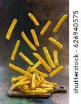homemade crispy potato fries... | Shutterstock . vector #626940575