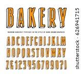 decorative sanserif bulk font.... | Shutterstock .eps vector #626941715