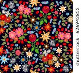 colorful floral carpet.... | Shutterstock .eps vector #626942852