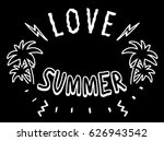 vintage tropical graphic.... | Shutterstock .eps vector #626943542