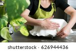close up of woman in bakery... | Shutterstock . vector #626944436