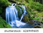 cold waterfall in triberg ... | Shutterstock . vector #626949605