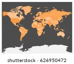 political map of world with... | Shutterstock .eps vector #626950472