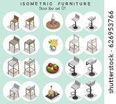 isometric stool bar furniture... | Shutterstock .eps vector #626953766