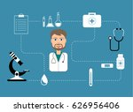 young doctor character... | Shutterstock .eps vector #626956406