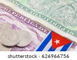 different cuban banknotes and... | Shutterstock . vector #626966756