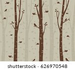 trees background. the trunk and ... | Shutterstock .eps vector #626970548