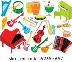 music instruments | Shutterstock .eps vector #62697697