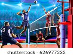 professional volleyball players ... | Shutterstock . vector #626977232