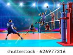 professional volleyball players ... | Shutterstock . vector #626977316