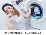 unhappy asian housewife... | Shutterstock . vector #626980115