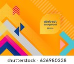 vector abstract background... | Shutterstock .eps vector #626980328