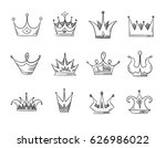 hand drawn doodle nobility... | Shutterstock .eps vector #626986022