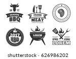 barbecue  grill  bbq steak... | Shutterstock .eps vector #626986202