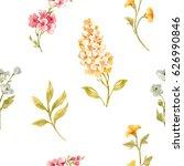 gentle watercolor floral...   Shutterstock . vector #626990846