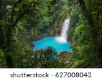waterfall and natural pool with ... | Shutterstock . vector #627008042