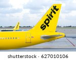 Small photo of FORT LAUDERDALE, FLA/USA - APRIL 15, 2017: Spirit Airlines jet airplane. Spirit Airlines, Inc. is an American low cost carrier.