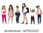 young kids enjoyment happiness... | Shutterstock . vector #627011315