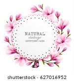 natural vintage greeting card... | Shutterstock .eps vector #627016952