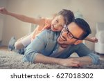 father and daughter spending... | Shutterstock . vector #627018302