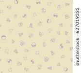 baby doodle background. kids... | Shutterstock .eps vector #627019232