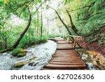 plitvice lakes national park ... | Shutterstock . vector #627026306