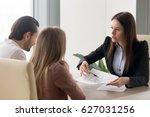female designer holding house... | Shutterstock . vector #627031256