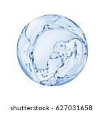 round sphere made of water... | Shutterstock . vector #627031658