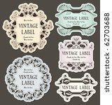 Stock vector set of vintage labels 62703688