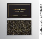 luxury business card. gold and...   Shutterstock .eps vector #627037826