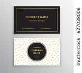 set of black and gold design... | Shutterstock .eps vector #627038006