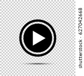 play button icon in flat style... | Shutterstock .eps vector #627042668