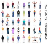 different people to choose from ... | Shutterstock .eps vector #627046742
