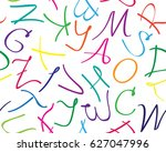 vector seamless pattern with... | Shutterstock .eps vector #627047996