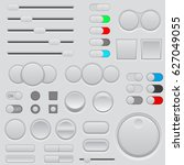 buttons set. web interface... | Shutterstock .eps vector #627049055