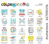 color box icons  business... | Shutterstock .eps vector #627050156
