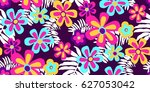 seamless floral pattern in... | Shutterstock .eps vector #627053042