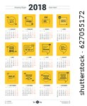calendar poster template for... | Shutterstock .eps vector #627055172