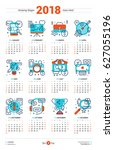 calendar design template for... | Shutterstock .eps vector #627055196