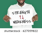 strength weakness arrow up down ... | Shutterstock . vector #627059822