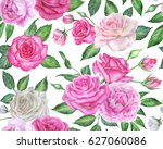seamless floral pattern with... | Shutterstock . vector #627060086