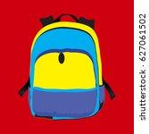 backpack  bag  school bag... | Shutterstock .eps vector #627061502
