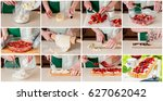 a step by step collage of... | Shutterstock . vector #627062042