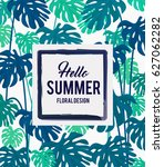 summer tropical background... | Shutterstock .eps vector #627062282