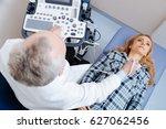 involved patient having neck... | Shutterstock . vector #627062456