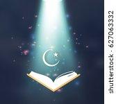 ramadan kareem. quran. crescent ... | Shutterstock .eps vector #627063332