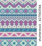 knitted pattern | Shutterstock .eps vector #627063566