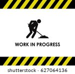 work in progress | Shutterstock .eps vector #627064136