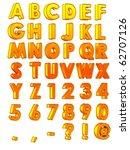 gold gradient alphabet | Shutterstock . vector #62707126