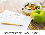 healthy eating  dieting ... | Shutterstock . vector #627075548